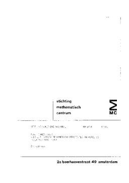 stichting mathematisch cent rum 2e boerhaavestraat 49 amsterdam